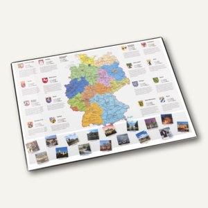 Läufer Schreibunterlage Deutschland, mit Schutzfolie, 40 x 53 cm, 45348