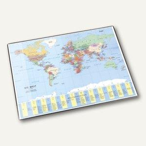Läufer Schreibunterlage Weltkarte, mit Schutzfolie, 40 x 53 cm, 45351