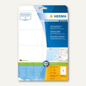 """Herma Etiketten """"Premium"""", DIN A4, 99.1 x 67.7 mm, Rand, weiß, 200 Stück, 5077"""