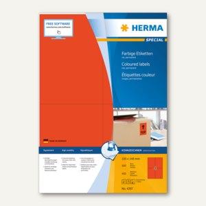 """Herma Etiketten """"SPECIAL"""", DIN A4, 105 x 148 mm, rot/matt, 400 Stück, 4397"""