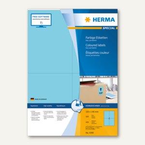 "Herma Etiketten ""SPECIAL"", DIN A4, 105 x 148 mm, blau/matt, 400 Stück, 4398"
