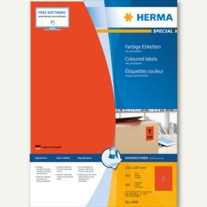 """Herma Etiketten """"SPECIAL"""", DIN A4, 210 x 297 mm, rot/matt, 100 Stück, 4402"""