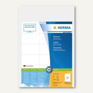 """Herma Etiketten """"Premium"""", DIN A4, 70 x 42 mm, weiß, 10.500 Stück, 4415"""