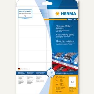 Herma Folien-Etiketten, wetterfest, 96.5 x 42.3 mm, Folie, weiß, 300 Stück, 4692