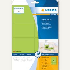 Herma Universal-Etiketten, 99,1 x 67,7 mm, Rand, neon-grün, 160 Stück, 5147