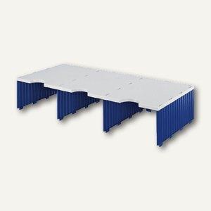 Styro styrodoc Trio Erweiterungsmodul, 3 Fächer grau/blau, 268-1321.38