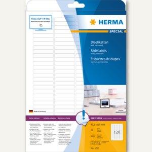 Herma Dia-Etiketten, A4 43,2x8,5 mm weiß Papier matt 3.200 St., 5071