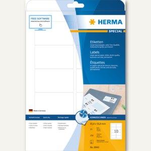 """Herma Etiketten """"Special"""", 83.8x50.8mm, 90g/qm, Rand, weiß, 250 Stück, 8840"""