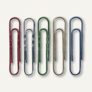 Aktenklammern, gewellt, farbig, 50 mm, 100er Pack, 160126