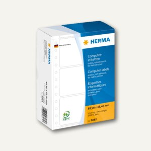 Herma Computeretiketten, endlos, 88.9 x 48.4 mm, 1-bahnig, 1.000 St., 8061