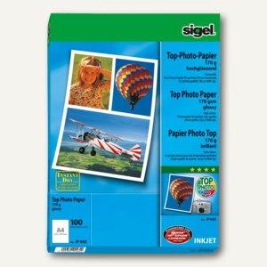 "Sigel Fotopapier ""Top"", DIN A4, 170 g/m², glossy, 100 Blatt, IP660"