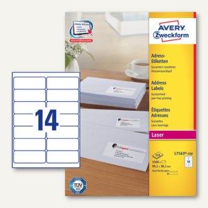 Adress-Etiketten für DIN lang