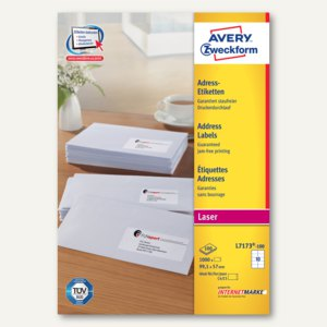 Zweckform Adress-Etiketten für C4/C5-Kuverts, 99.1 x 57 mm, 1.000 St., L7173-100