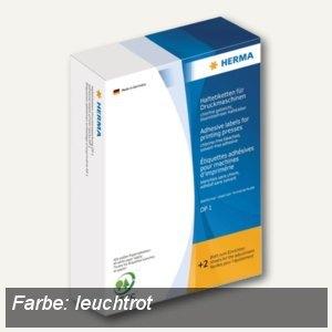 Herma Haftetiketten für Druckmaschinen DP1, 34x53 mm, Leuchtrot, 2.500 St., 3032