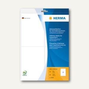 Herma Adress-Etiketten Ecken abgerundet, 102 x 148mm, 80 St., 4434