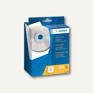 Herma CD-Papierhüllen mit Klebefläche, 124x124 mm, 100 St., 1140