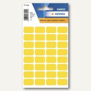 Herma Vielzweck-Etiketten, 12 x 19 mm, gelb, 10 x 160 Stück, 3641