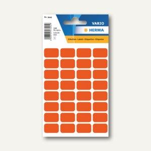 Herma Vielzweck-Etiketten, 12 x 19 mm, rot, 10 x 160 Stück, 3642