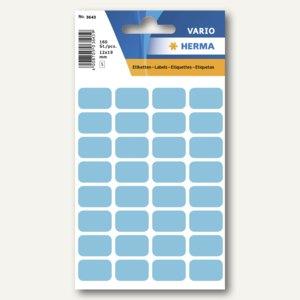 Herma Vielzweck-Etiketten, 12 x 19 mm, blau, 10 x 160 Stück, 3643