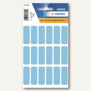 Herma Vielzweck-Etiketten, 12 x 34 mm, blau, 10 x 90 Stück, 3653