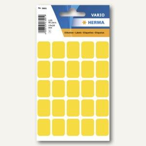 Herma Vielzweck-Etiketten, 15 x 20 mm, gelb, 10 x 125 Stück, 3661