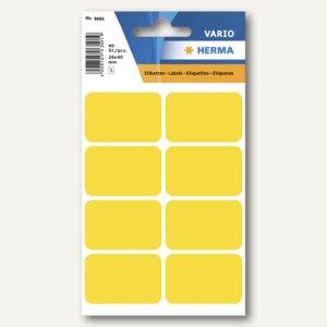 Herma Vielzweck-Etiketten, 26 x 40 mm, gelb, 10 x 40 Stück, 3691