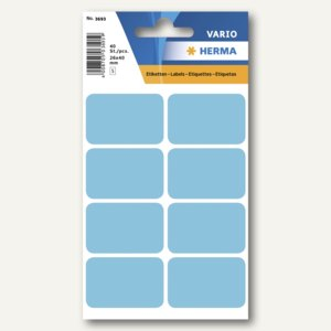 Herma Vielzweck-Etiketten, 26 x 40 mm, blau, 10 x 40 Stück, 3693