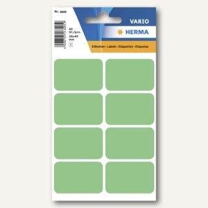 Herma Vielzweck-Etiketten, 26 x 40 mm, grün, 10 x 40 Stück, 3695