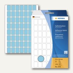 Herma Vielzweck-Etiketten, 12 x 18 mm, blau, 5 x 1.792 Stück, 2343