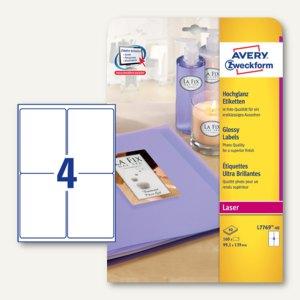 Artikelbild: Avery Zweckform Hochglanz-Etiketten für Farblaser