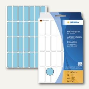 Herma Vielzweck-Etiketten, 13 x 40 mm, blau, 5 x 896 Stück, 2363