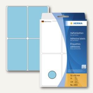 Herma Vielzweck-Etiketten, 52 x 82 mm, blau, 5 x 128 Stück, 2493
