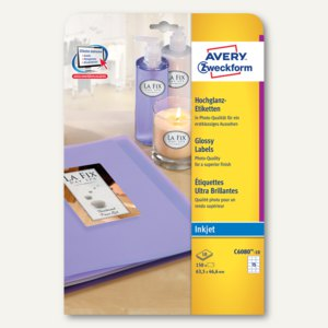 Artikelbild: Hochglanz-Etiketten für Inkjet-Drucker
