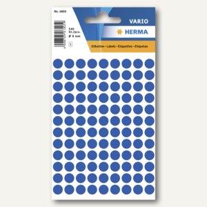 Herma Vielzweck-Etiketten, ø 8 mm, dunkelblau, 10 x 540 Stück, 1833
