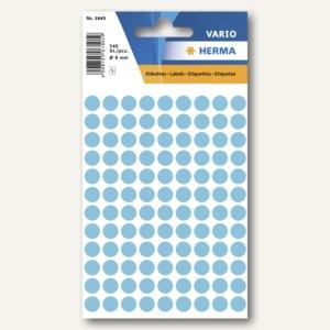Herma Vielzweck-Etiketten, ø 8 mm, blau, 10 x 540 Stück, 1843