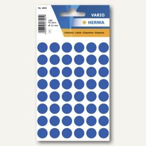 Herma Vielzweck-Etiketten, ø 12 mm, dunkelblau, 10 x 240 Stück, 1853