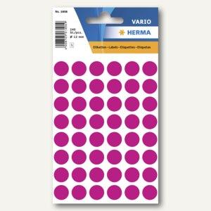 Herma Vielzweck-Etiketten, ø 12 mm, pink, 10 x 240 Stück, 1856