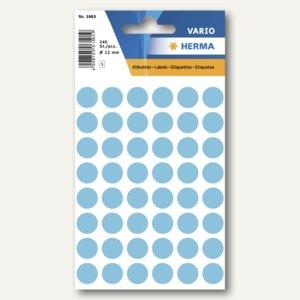 Herma Vielzweck-Etiketten, ø 12 mm, blau, 10 x 240 Stück, 1863