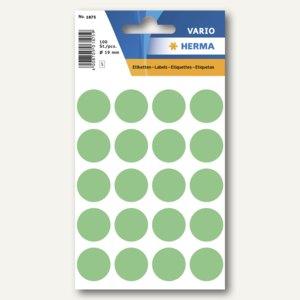 Herma Vielzweck-Etiketten, ø 19 mm, grün, 10 x 100 Stück, 1875