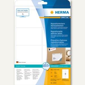 Herma Haftetiketten, 99.1 x 67.7 mm, weiß, DIN A4, Movables, 200 St., 10018