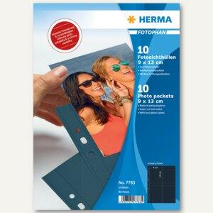 Herma Fotophan-Sichthüllen 9x13cm, 8x hoch, schwarz, 40 Hüllen, 7783