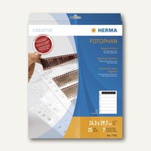 Herma Negativhüllen für 7x5 Negative, klar, 25 Hüllen, 7761