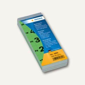 Herma Nummernblock 1-500 selbstklebend, 28 x 56 mm, grün, 4895