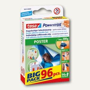 Tesa Powerstrips Poster, spurlos ablösbar, Großpackung mit 96 Strips,58213-00000