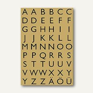 Herma Buchstaben, 13x12mm, A-Z, Goldfolie, schwarz, 10x4 Bl., 4145