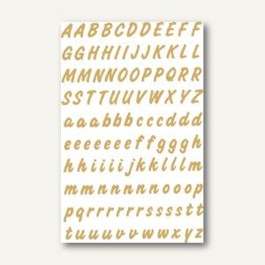 Herma Buchstaben, 8mm, A-Z, wetterfest, Folie transparent, gold, 10x2 Bl., 4152