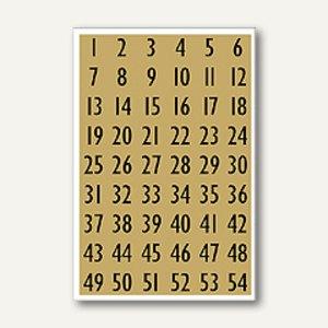 Herma Zahlen, 13mm, 1-100, Folie gold, 10x4 Blatt, 4146