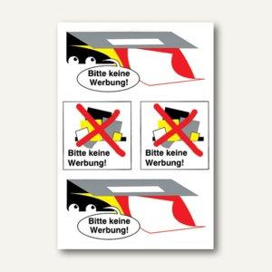 """Herma Hinweisetiketten, """"Bitte keine Werbung"""", wetterfest, 40 Etiketten, 5735"""