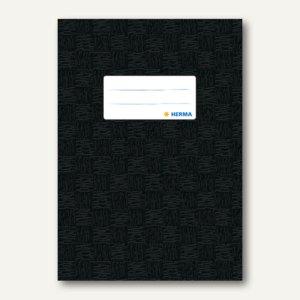 Herma Heftschoner DIN A5, PP, schwarz gedeckt, 50 Stück, 7429