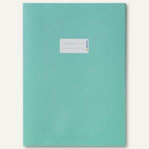Herma Heftschoner Papier DIN A4 türkis 100% Altpapier, 50 Stück, 5527